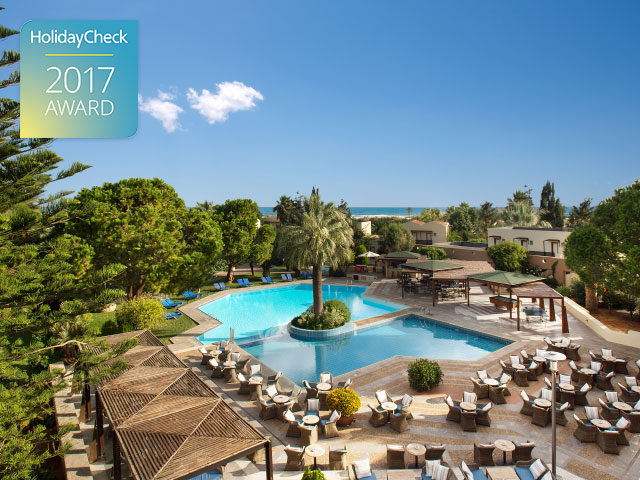 Cretan Malia Park Hotel Ranks 1st on Crete Island, Gets HolidayCheck Award 2017